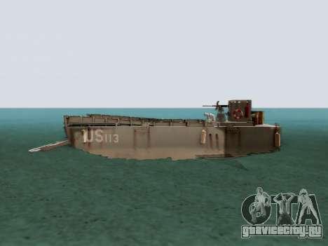 Landing Craft для GTA San Andreas вид слева