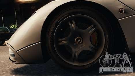McLaren F1 XP5 для GTA 4 вид сзади слева
