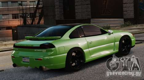 Dodge Stealth Turbo RT 1996 для GTA 4 вид сзади