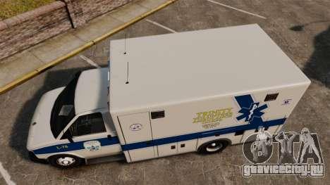 Brute Speedo TEMS Ambulance [ELS] для GTA 4 вид справа