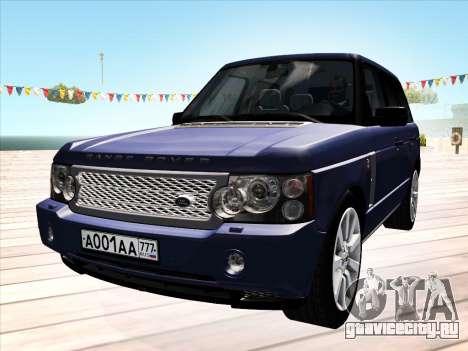 Land Rover Supercharged Stock 2010 V2.0 для GTA San Andreas вид слева