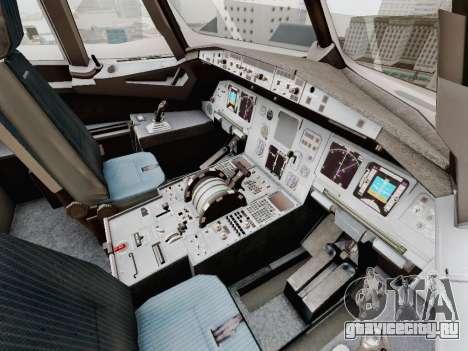 Airbus A320-211 China Eastern для GTA San Andreas вид снизу