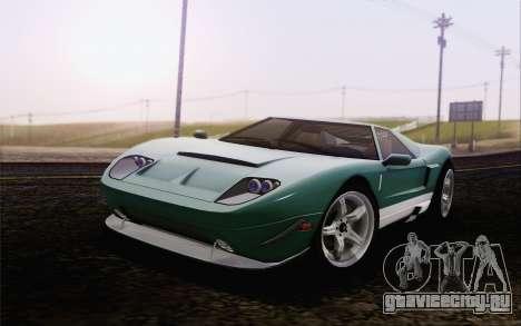 Vapid Bullet GT из GTA 5 для GTA San Andreas вид сзади слева