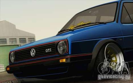 Volkswagen Golf MK2 LowStance для GTA San Andreas вид справа