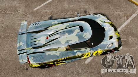 Koenigsegg One:1 для GTA 4 вид справа