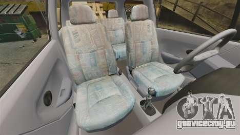 Daewoo Matiz SE 1998 для GTA 4 вид изнутри