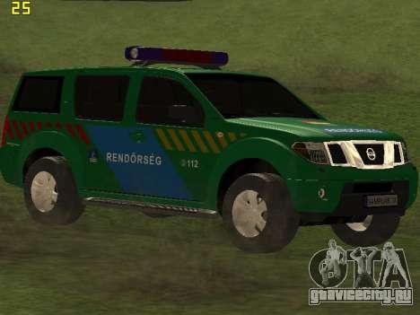 Nissan Pathfinder Police для GTA San Andreas вид сзади