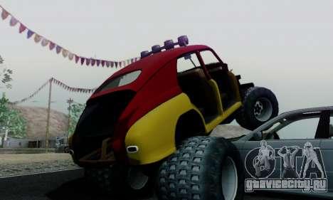 ГАЗ М20 Монстр для GTA San Andreas вид изнутри