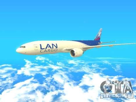 Boeing 777 LAN Cargo для GTA San Andreas вид слева