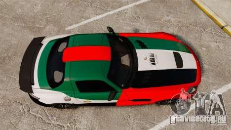 Mercedes-Benz SLS 2014 AMG UAE Theme для GTA 4 вид справа