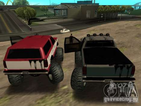 Street Monster для GTA San Andreas вид сзади