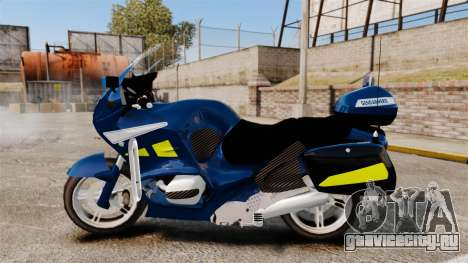 BMW R1150RT Gendarmerie [ELS] для GTA 4 вид слева