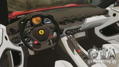 Ferrari F12 Berlinetta 2013 [EPM] Deaths-head для GTA 4 вид сбоку