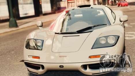 McLaren F1 XP5 для GTA 4 вид справа
