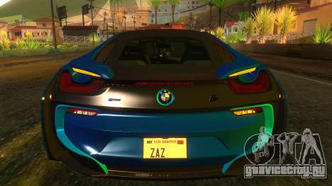 BMW I8 2013 для GTA San Andreas вид изнутри