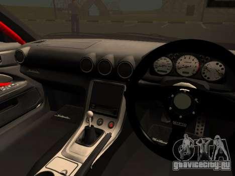Nissan Silvia S15 Team Dragtimes для GTA San Andreas вид изнутри