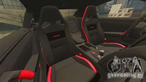 Nissan GT-R 2012 Black Edition NFS Underground для GTA 4 вид сбоку