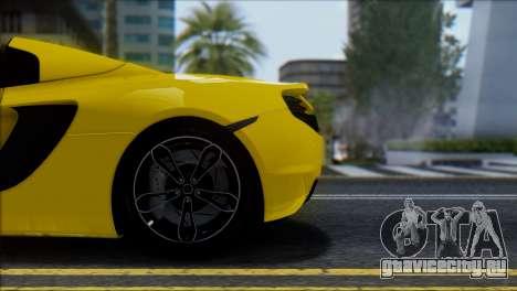 McLaren MP4-12C Spider для GTA San Andreas вид сбоку