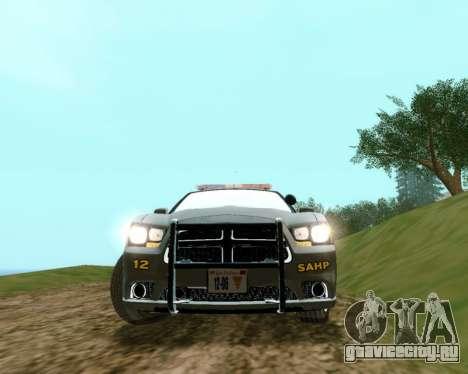 Dodge Charger 2012 SAHP для GTA San Andreas вид сзади слева