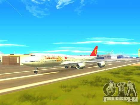 Boeing 747 Air China для GTA San Andreas вид снизу