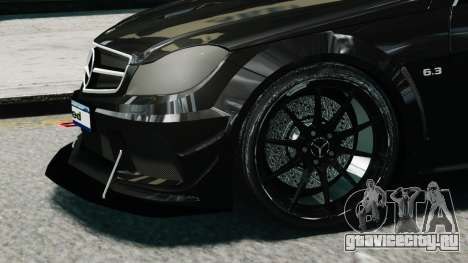 Mercedes-Benz C63 AMG Black Series 2012 для GTA 4 вид справа