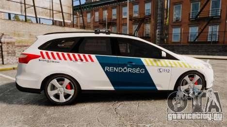 Ford Focus 2013 Hungarian Police [ELS] для GTA 4 вид слева