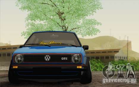 Volkswagen Golf MK2 LowStance для GTA San Andreas вид сзади слева