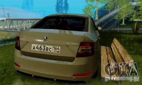 Skoda Octavia A7 для GTA San Andreas вид сзади