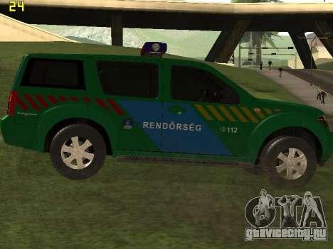 Nissan Pathfinder Police для GTA San Andreas вид справа