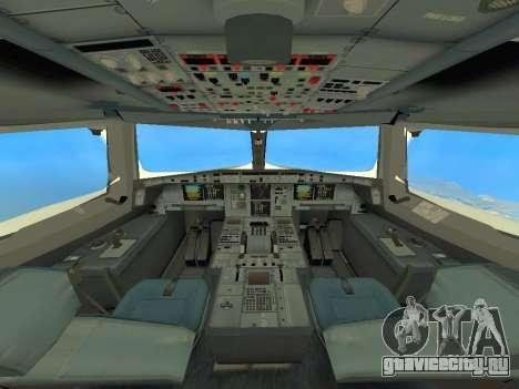 A380-800 Hainan Airlines для GTA San Andreas вид изнутри