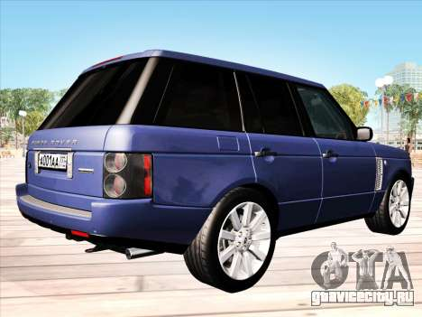 Land Rover Supercharged Stock 2010 V2.0 для GTA San Andreas вид справа