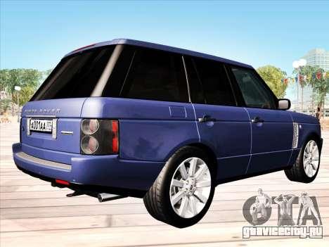 Land Rover Supercharged Stock 2010 V2.0 для GTA San Andreas вид справа