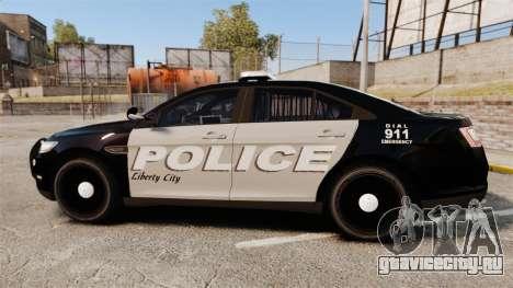 Ford Taurus LCPD Interceptor 2011 [ELS] для GTA 4 вид слева