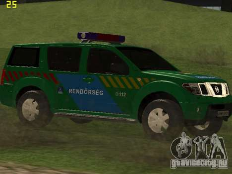 Nissan Pathfinder Police для GTA San Andreas вид изнутри