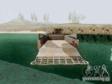 Landing Craft для GTA San Andreas вид сзади слева