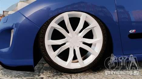 Peugeot 308 GTI для GTA 4 вид сзади