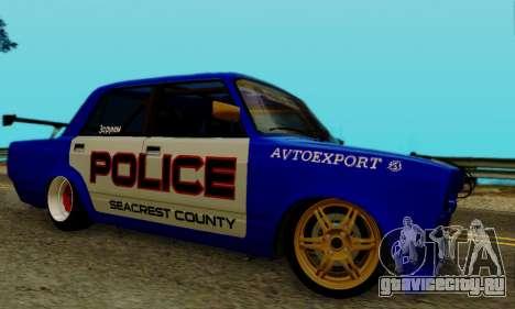 ВАЗ 2107 Дрифт для GTA San Andreas вид справа