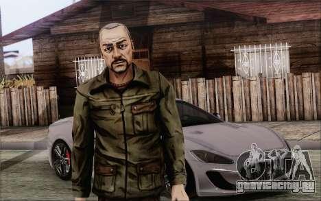 Pete from Walking Dead для GTA San Andreas