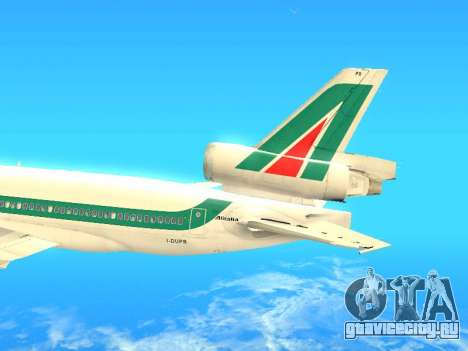McDonnell Douglas MD-11 Alitalia для GTA San Andreas вид изнутри