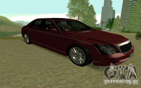 Maybach 57 TT Black Revel для GTA San Andreas вид сзади слева