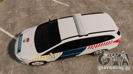 Ford Focus 2013 Hungarian Police [ELS] для GTA 4 вид справа