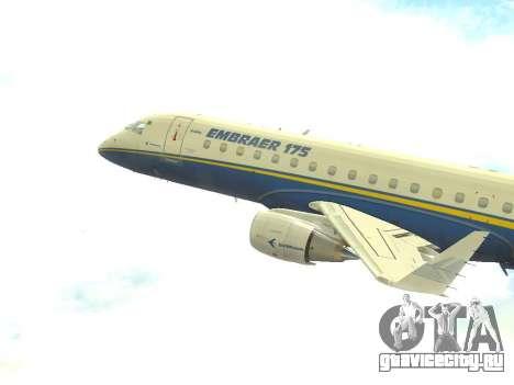 Embraer 175 HOUSE для GTA San Andreas вид слева