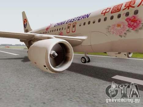 Airbus A320-211 China Eastern для GTA San Andreas вид сзади