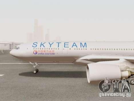 A330-202 China Eastern для GTA San Andreas вид сзади слева