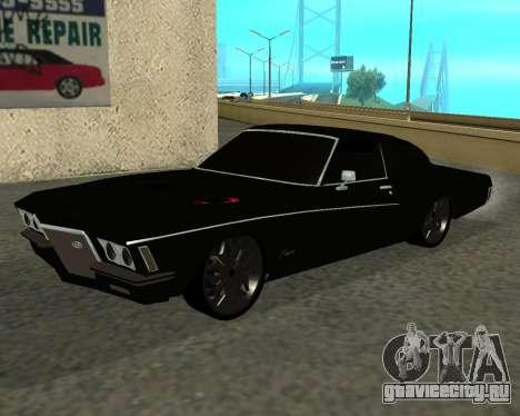 Buick Riviera 1972  Classic для GTA San Andreas
