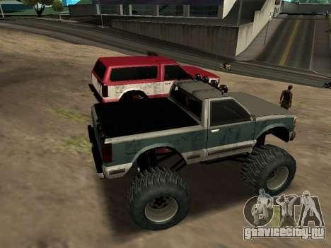 Street Monster для GTA San Andreas вид изнутри