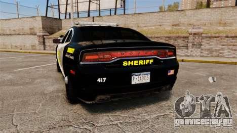 Dodge Charger 2013 LCSO [ELS] для GTA 4 вид сзади слева