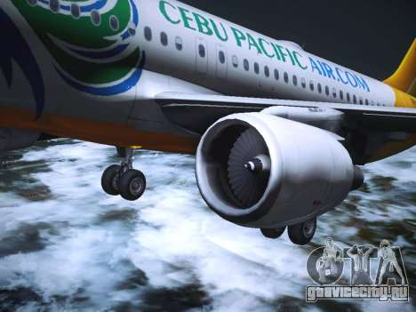 Airbus A320 Cebu Pacific Air для GTA San Andreas салон