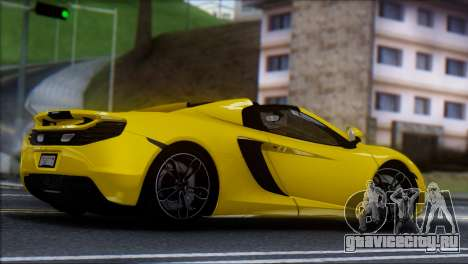 McLaren MP4-12C Spider для GTA San Andreas вид слева