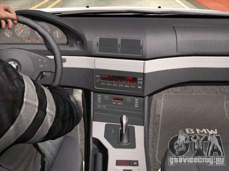 BMW 530d E39 для GTA San Andreas вид снизу